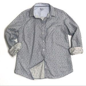 Tops - Boden Gray Button Down Relaxed Weekend Shirt